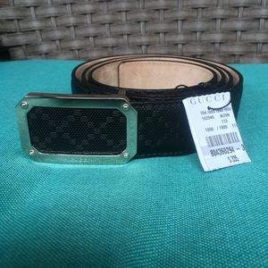 Gucci Black Diamente Leather Belt